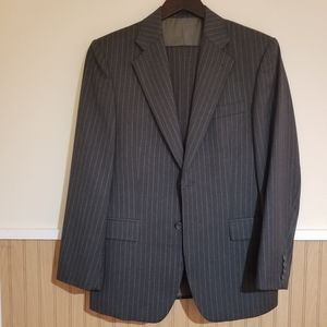 Mens Gray pinstriped suit
